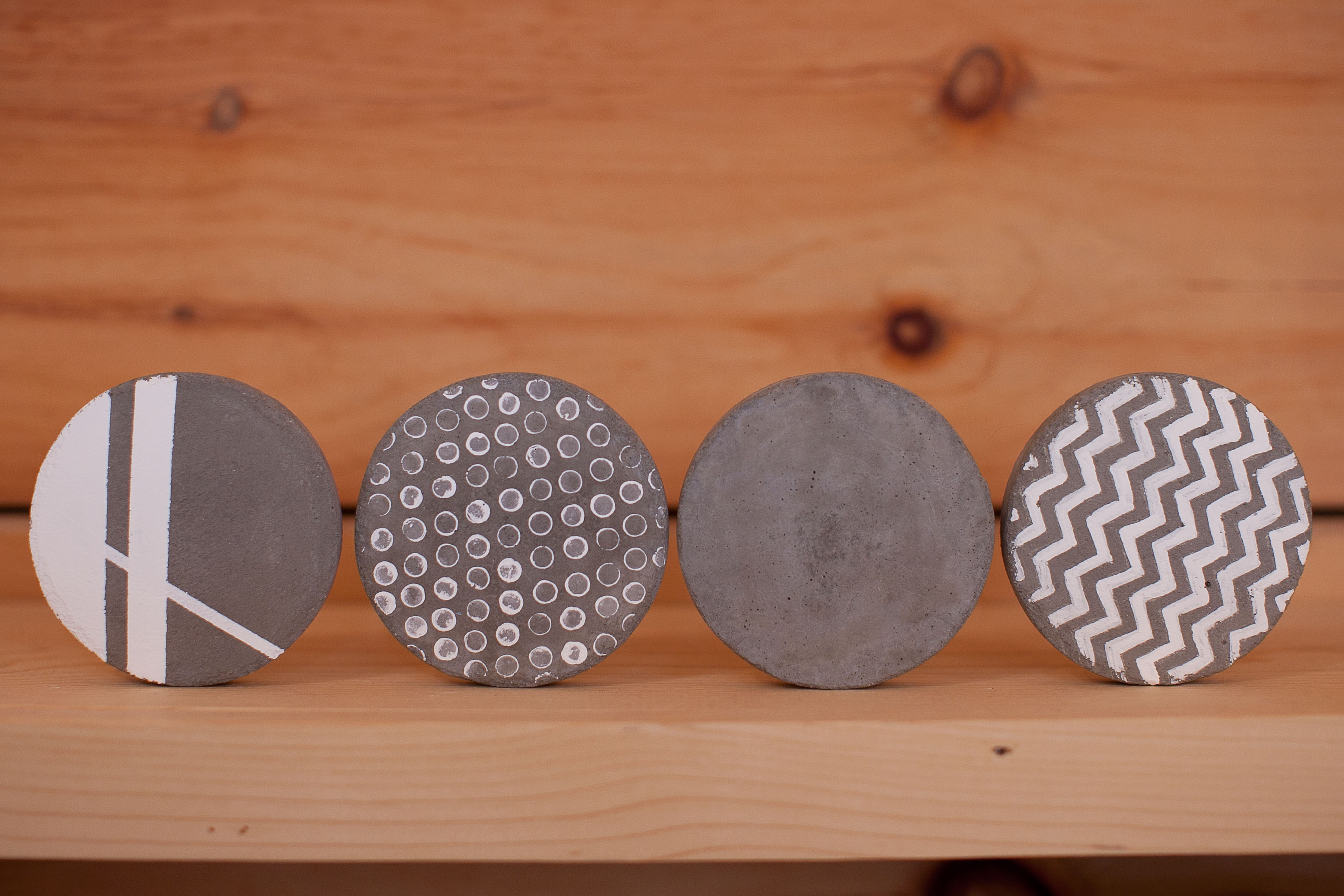 diy concrete coasters